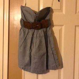 Strapless mini with belt
